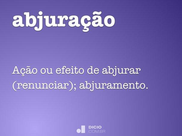 abjura��o