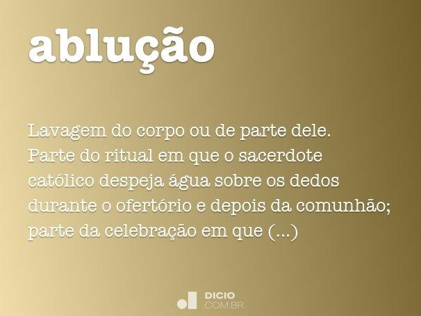 ablu��o