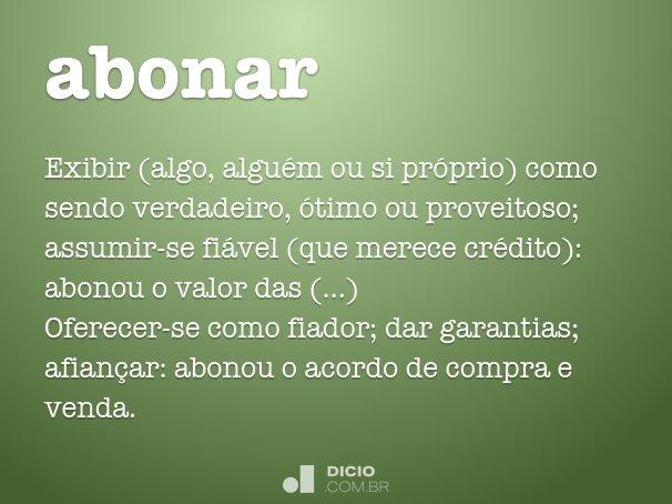 abonar