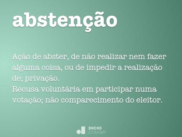 absten��o