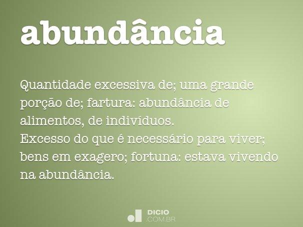 abund�ncia