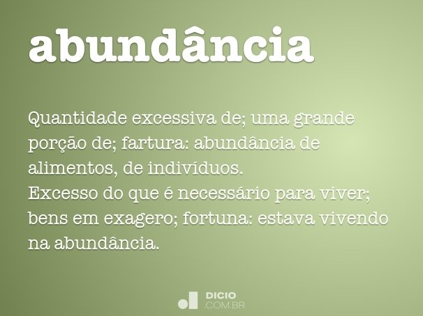 abundância