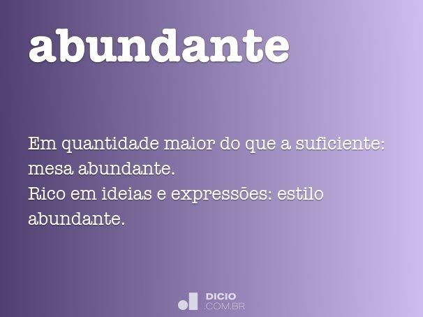 abundante