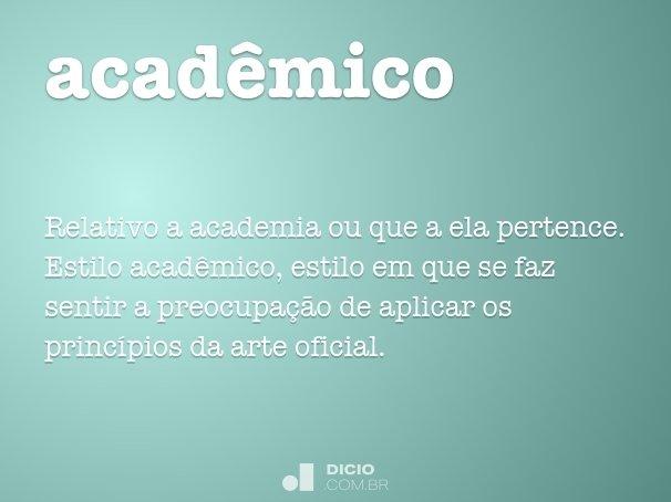 acad�mico