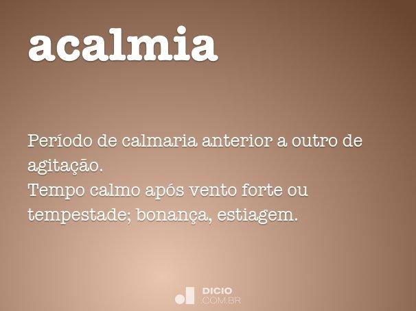 acalmia