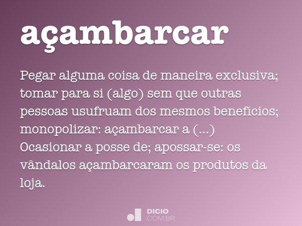 a�ambarcar