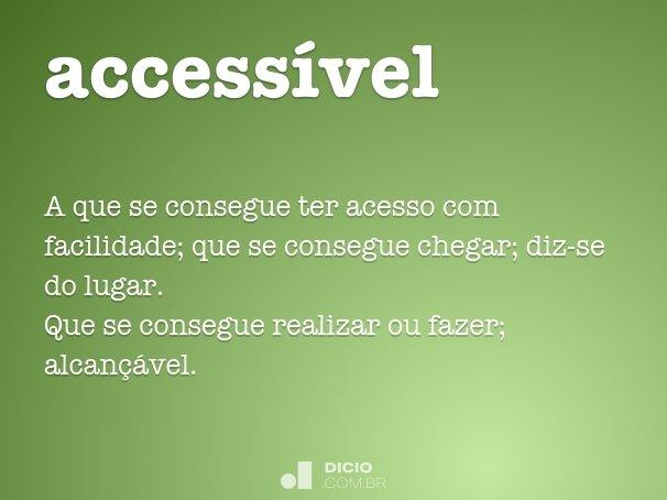 accessível