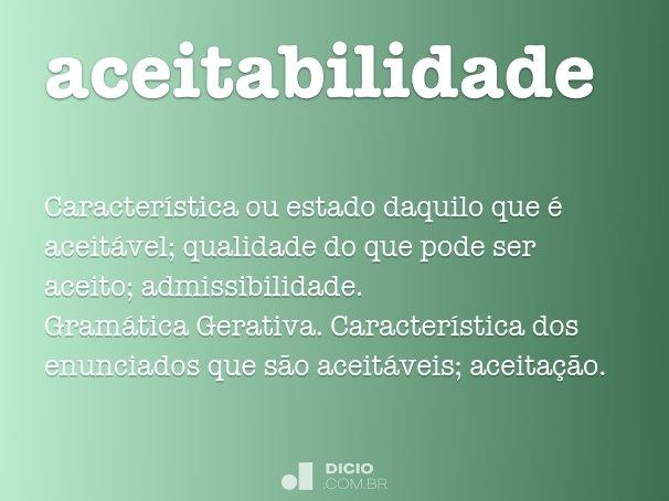 aceitabilidade