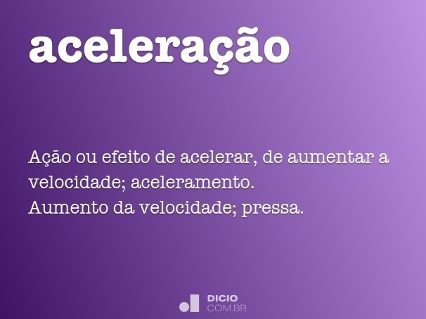 acelera��o