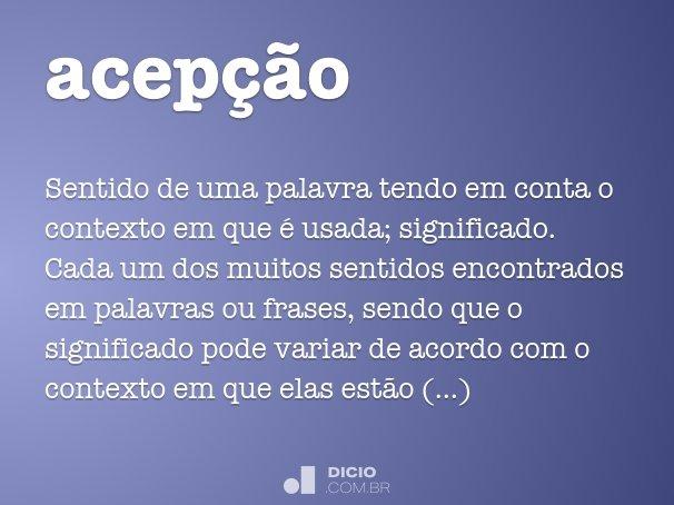 acep��o