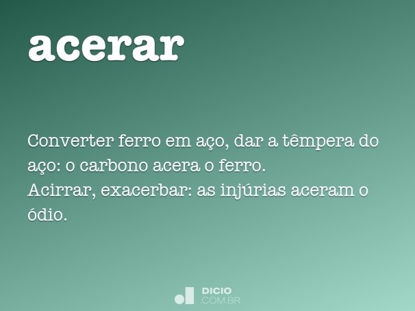 acerar