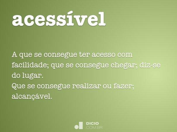 acess�vel