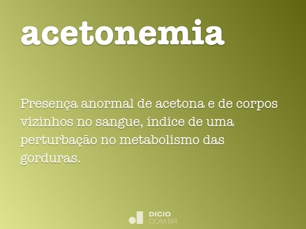 acetonemia
