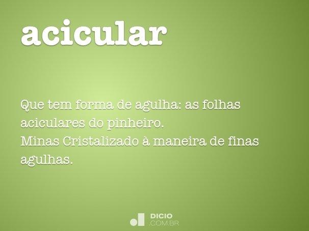 acicular