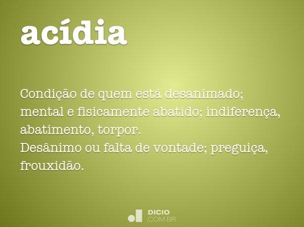 acídia