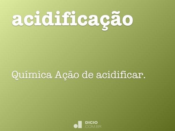 acidifica��o