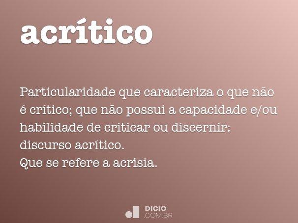acrítico