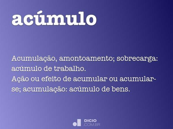 ac�mulo