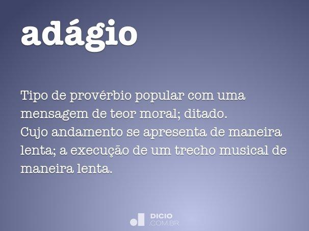 adágio