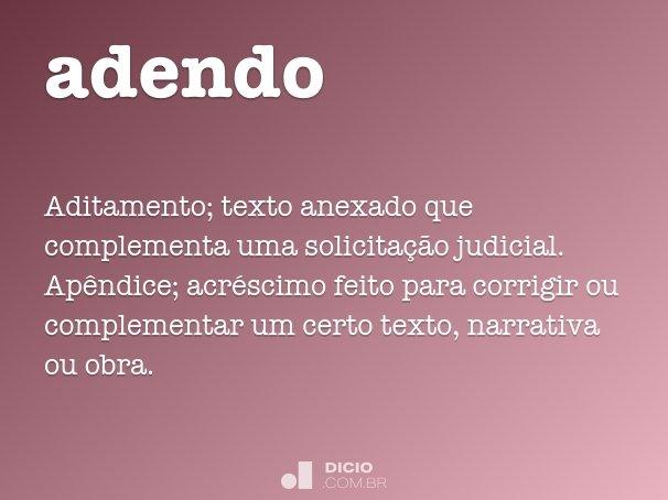 adendo