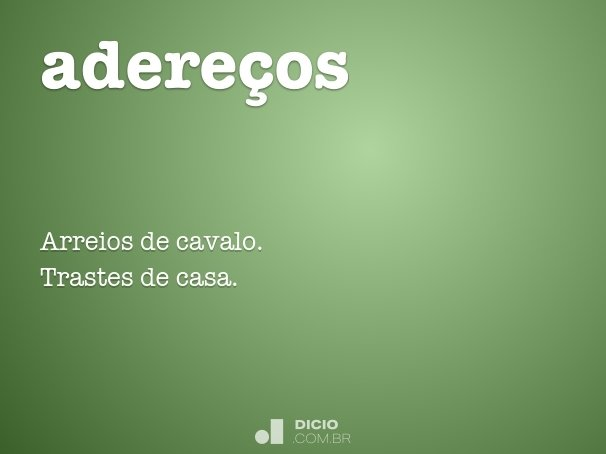 adere�os