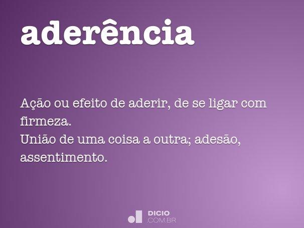 ader�ncia