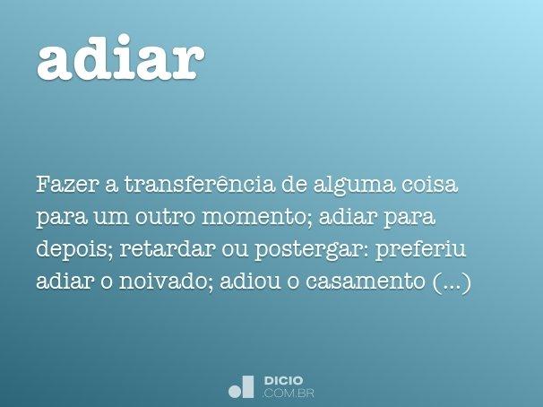 adiar