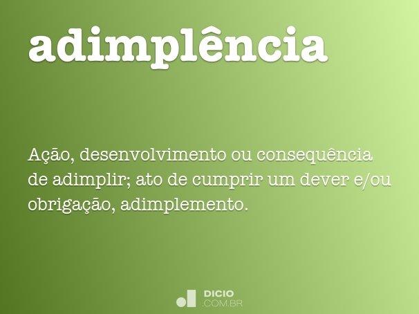 adimpl�ncia