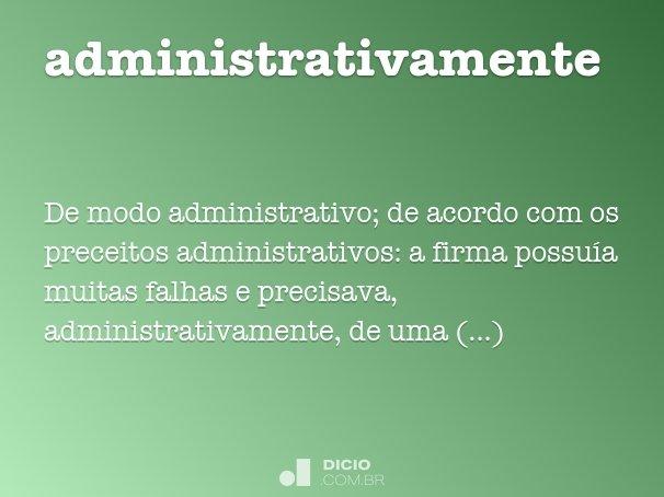 administrativamente