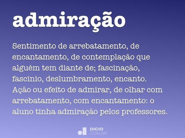 admiração