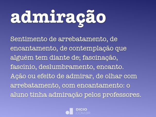 admira��o