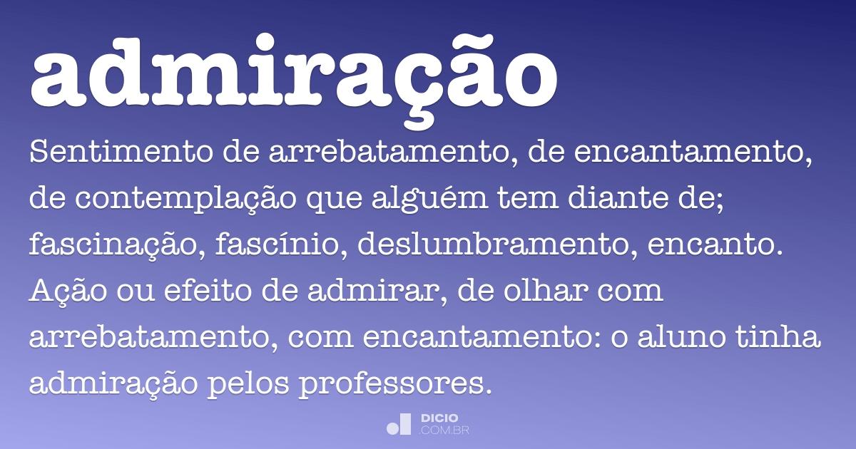 Frases De Admiração: Dicio, Dicionário Online De Português