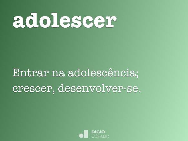 adolescer