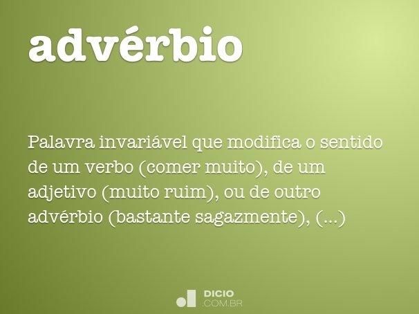 adv�rbio