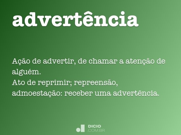 advert�ncia