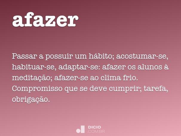 afazer