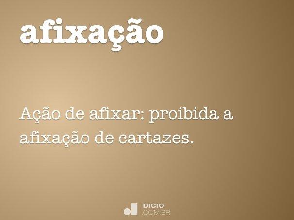 afixa��o