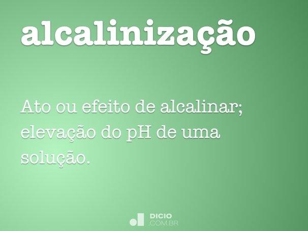 alcaliniza��o