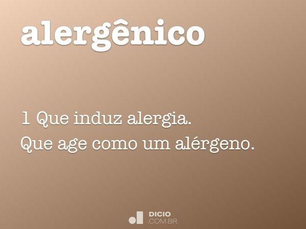 alerg�nico