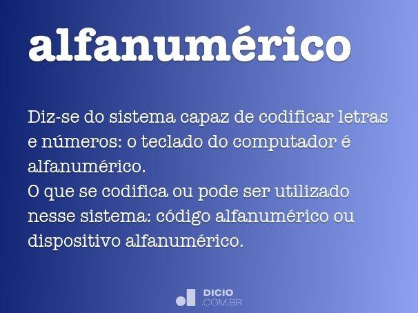 alfanumérico