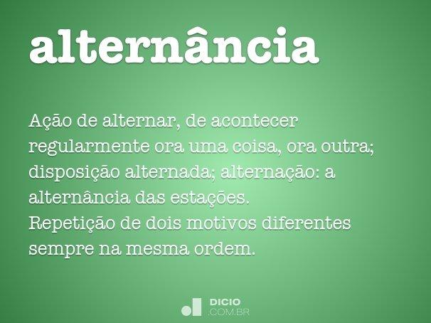 altern�ncia
