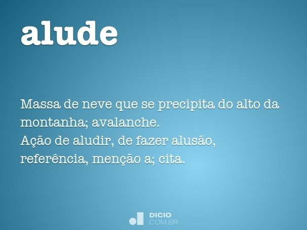 alude