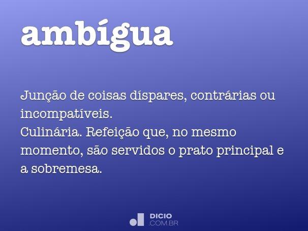ambígua