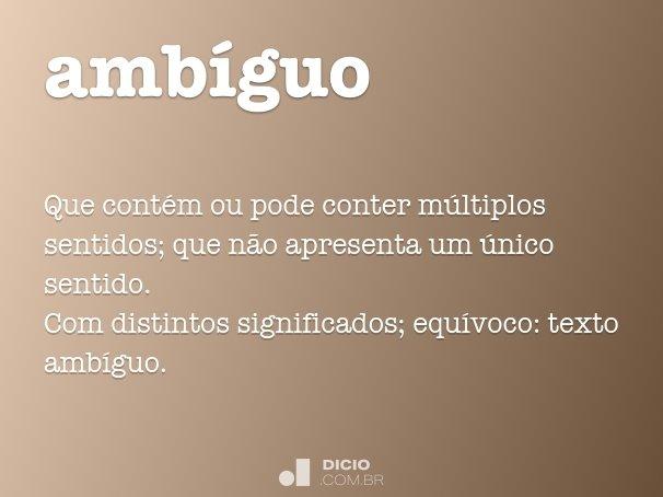 amb�guo