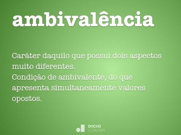 ambival�ncia