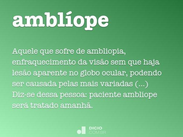 amblíope