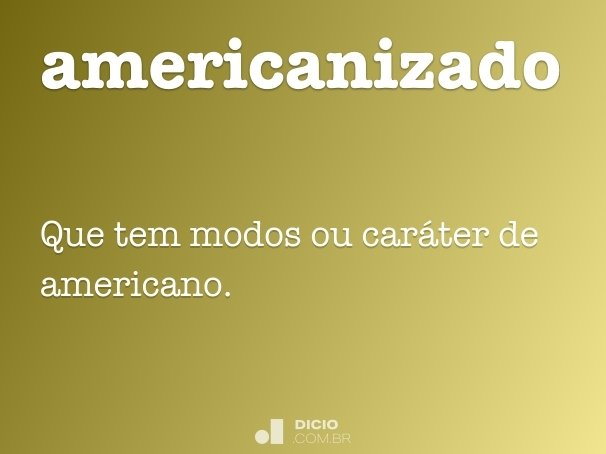 americanizado