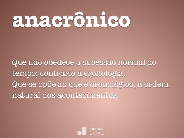 anacrônico
