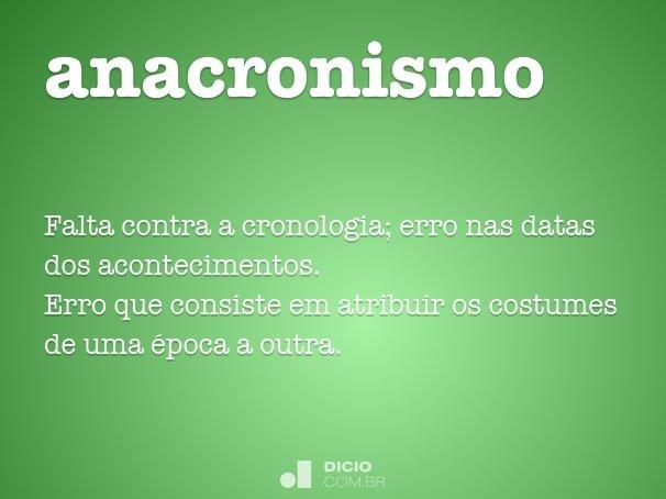 anacronismo