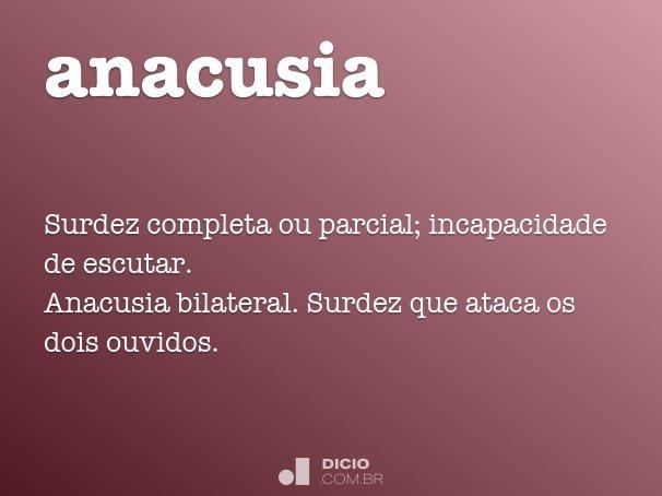anacusia